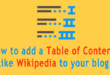 How to add a table of contents like Wikipedia to your blog?